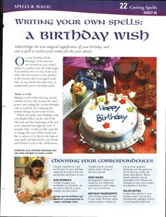 Writing Your Own Spells: A Birthday Wish