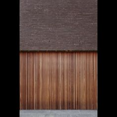 Wood and brick. Residence VD in Bodegem by Belgian architect Tom Lierman.