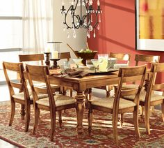 Amazing Dining Rooms Collection From Pottery Barn Red Theme