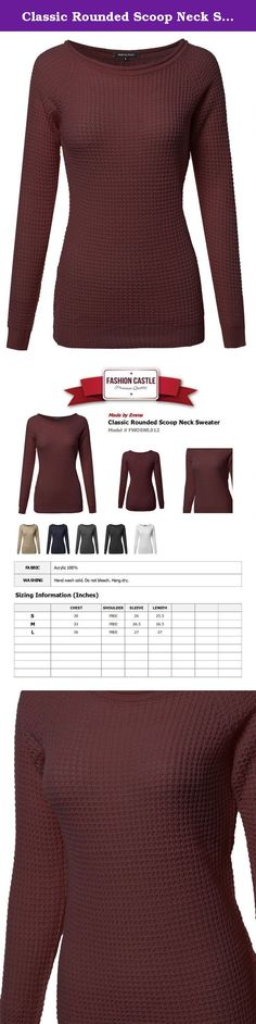Classic Rounded Scoop Neck Sweater Burgundy M Size. Made by Emma is a brand based on the styles you love! Everywhere you go enhance your style. The more you save and explore, the more we'll get to know your personal style. .