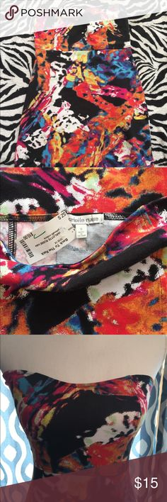 NWT Charlotte Russe colorful tube dress New with tags  Charlotte Russe small Bodycon tube dress - very stretchy to fit curves nicely  95% cotton 5% spandex  So colorful and cute!!  Consider bundling with orange blazer for an extra discount!! Charlotte Russe Dresses Strapless