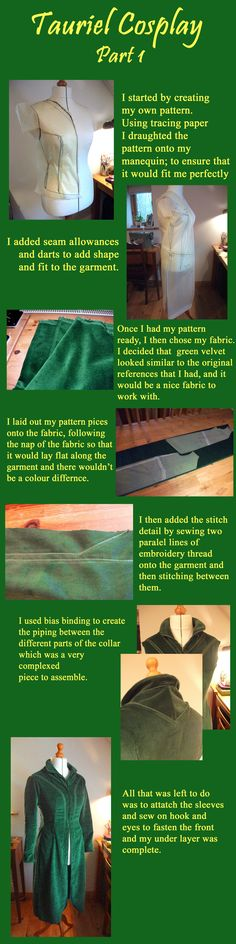 My tutorial for making the under layer of Tauriel's travelling outfit XD