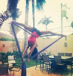 Miracle Split - Aerial Silks