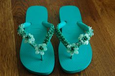 Beaded decorated flipflops - CLOTHING