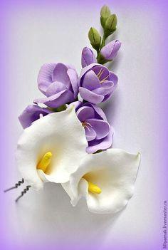 Fondant Flowers, Sugar Flowers, Felt Flowers, Diy Flowers, Fabric Flowers, Paper Flowers, Clay Projects, Clay Crafts, Diy And Crafts