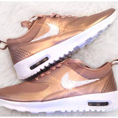 b497fe59d3d0e4 Nike Air Max Thea Bling Nike Shoes Rose Gold-Nike Swarovski Swarovski...  ( 179) ❤ liked on Polyvore featuring shoes