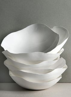 "I have these same bowls from ym lovely friend Roos Van de Velde. They are quite simply ""Perfect Imperfection"" by Roos Van de Velde"