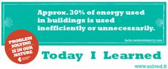 TIL: Approx. 30% of energy used in buildings is used inefficiently or unnecessarily.
