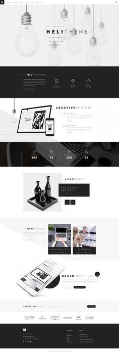 Heli - A Creative Multipurpose PSD Template by ThemeSun | ThemeForest