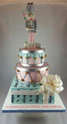 Cakeology by Jamie - Wedding Cake - Astoria, NY - WeddingWire Nutcracker Christmas, Christmas Sweets, Christmas Baking, Christmas Cakes, Christmas Birthday, Cake Cookies, Cupcake Cakes, Cupcakes, Beautiful Cakes