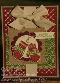 Stampin' Up! Cozy Mittens Christmas Card