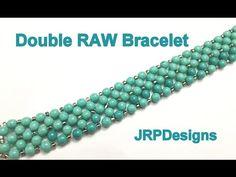Double RAW Bracelet--Beginner Left Hand Tutorial - YouTube