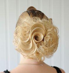 Hair Rose hairstyle by Yulia Ivanchikova of Russia. Perfection! #hotonbeauty fb.com/hotbeautymagazine