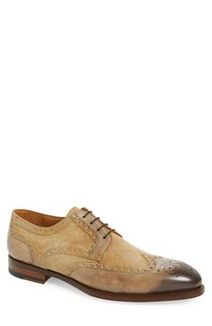 Free shipping and returns on Magnanni 'Artea' Spectator Shoe at Nordstrom.com. Burlap-textured contrast panels add rustic charm to a hearty spectator shoe paneled with burnished brogue details.