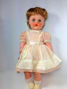 Vintage Horsman Doll Rare Love Me Doll Vinyl SuperFlex Original Tags  Beautiful Collectable Dolls Mid Century 1950s Pretty Baby Dolls