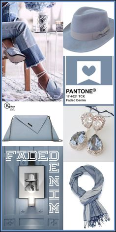 """""""Faded Denim"""" Pantone – Spring/ Summer 2020 Color- by Reyhan S. Janina Marcos """"Faded Denim"""" Pantone – Spring/ Summer 2020 Color- by Reyhan S. """"Faded Denim"""" Pantone – Spring/ Summer 2020 Color- by Reyhan S. 2020 Fashion Trends, Spring Fashion Trends, Fashion 2020, Fashion Colours, Colorful Fashion, Look 2018, Fashion Forecasting, Pantone 2020, Spring Summer Trends"""