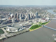 Paul Brown Stadium and the Great American Ball Park in Cincinnati. http://archrecord.construction.com/features/2012/Sports-Facilities/Economic-Engines.asp#