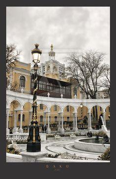 Baku.The Philharmonic garden