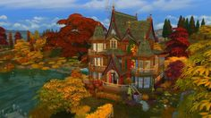 I've missed you all, I'm back building in and I'm more inspired than ever. This time I decided to build. Sims Building, Sims 4, Villa, Autumn, Mansions, Maxis, House Styles, World, Youtube