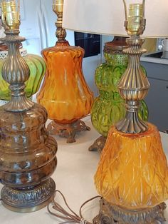 vintage glass lamps