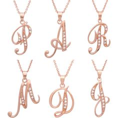 TrioStar 18k Yellow Gold Plated 925 Silver Letter Script H Simulated Diamond Initial Pendant /& Necklace for Womens