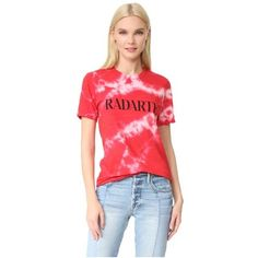Rodarte Tie Dye T-Shirt ($155) ❤ liked on Polyvore featuring tops, t-shirts, cherry, crew neck tee, short sleeve t shirts, tye dye t shirts, tie dye t shirts and short sleeve tee
