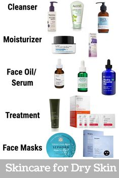 Skin Care Routine for Dry Skin: Products & Routine - Hat on the Map Gesundheit mit Schönheit perfekteFrauen Schönheit Dry skin, an issue most people face during the cooler months. Now that I am knocking on door I feel like my skin is becoming no Oily Skin Care, Skin Care Regimen, Anti Aging Skin Care, Sensitive Skin Care, Moisturizer For Dry Skin, Dry Skin Skincare, Skin Care Routine For 20s, Skin Routine, Skin Care Routine 30s
