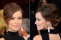OSCARS 2014. El peinado de Olivia Wilde gustó especialmente. La actriz lució en la gala un relajado recogido chignon con mechones sueltos.
