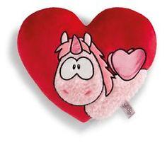 Nici Einhorn Kissen herzförmig Merry Heart love Kollektion Theodor and friends
