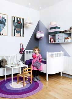 A nursery graduates to a sweet & modern toddler room... we might be jealous!