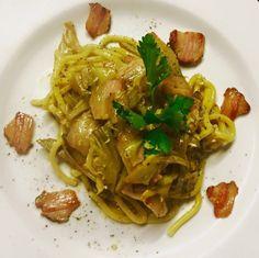 Valentine's dinner #food #foodporn #foodphotography Tagliolini rigatino e carciofi https://morgatta.wordpress.com/2016/02/11/cena-afrodisiaca-no-grazie-san-valentino-per-quelli-a-cui-piace-magna/