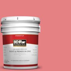 BEHR Premium Plus 5-gal. #P170-4 Sugar Poppy Flat Interior Paint