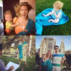 the sling diaries: carolee and emerson babywearing fun! #sakurabloom