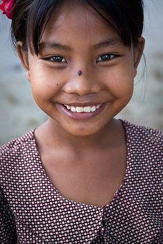 Beautiful girl smiling.