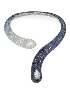 De Grisogono Diamond and Saphire Necklace