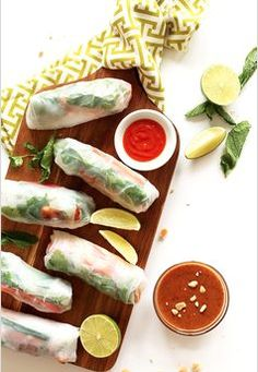Lighten up dinner tonight with these Tofu Vietnamese Spring Rolls. Flash fried tofu and fresh raw vegetables are stuffed into spring roll wrappers and paired with a creamy almond butter dipping sauce. They're the perfect healthy summer meal! Vegan Spring Rolls, Summer Rolls, Best Tofu Recipes, Healthy Recipes, Vegetarian Dinners, Vegetarian Recipes, Vegetarian Cooking, Tofu Meals, Vegetarian Italian