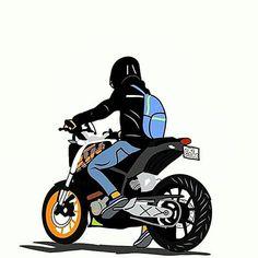 Ktm Duke, Duke Bike, Cute Couple Cartoon, Cute Cartoon Pictures, Flash Tattoos, Kid Icarus, Carros Bmw, Photoshoot Pose Boy, Bike Sketch
