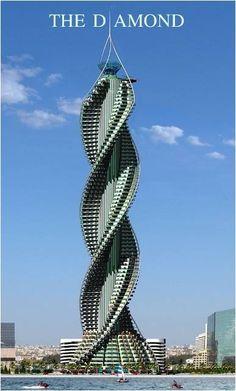 Project Diamond Tower - Jeddah, Saudi Arabia. How will they wash windows?