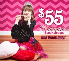 Planning your upcoming Valentine's photo shoots? Don't miss out on our $55 Valentine backdrop sale, this week only! Hurry - ends 1/20/14!