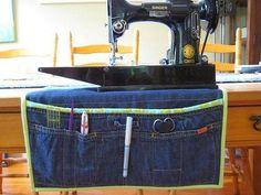 Crea organizadores reciclando tus pantalones jeans ¡de mil formas!