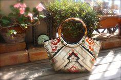 Obi / Kimono / Bag /GD794  Gorgeous Gold Obi Granny Bag Medium Size by RummyHandmade on Etsy