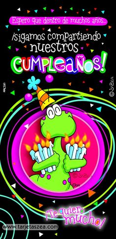 Hasta viejitos-Tarjeta de cumpleaños-Clon © ZEA www.tarjetaszea.com