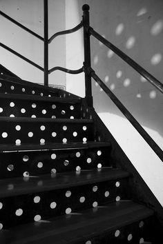 Polka dot Stairs by spiritchasa, via Flickr