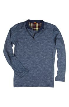 Free shipping and returns on Tailor Vintage Long Sleeve Indigo Stripe Jersey Henley (Little Boys & Big Boys) at Nordstrom.com. Wrapped with indigo stripes, a long-sleeve garment-dyed henley cut from soft cotton jersey offers a trendy, casual look throughout the winter months.