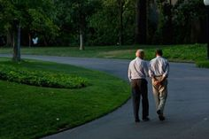 Obama and Biden walk around the South Lawn of the White House on July 24, 2011. - White House/Pete Souza