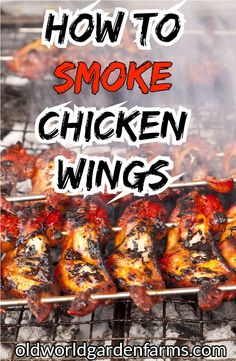 How To Smoke Chicken Wings. And A Delicious Dry Rub Recipe Too! How to smoke chicken wings – the keys to making the wings moist and delicious. Traeger Recipes, Smoked Meat Recipes, Grilled Chicken Recipes, Chicken Wing Recipes, Grilling Recipes, Smoker Grill Recipes, Venison Recipes, Oven Recipes, Sausage Recipes