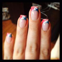 Gel Acrylic Nails, Gel Nail Art, Gel Nails, Blue Nails, White Nails, Girly Stuff, Girly Things, Nail Tips, Nail Ideas
