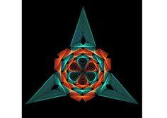 TRIÁNGULO cadena arte geometría sagrada cadena arte geometría