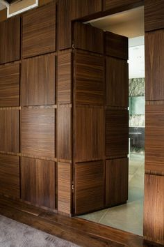 Hidden door is an amenity that makes a house more fun. There are many ways to create such door. Here, we listed hidden door ideas to help you do. Main Door Design, Wooden Door Design, Wooden Doors, Wooden Windows, Wooden Partition Design, Flush Door Design, Modern Wood Doors, Slab Doors, Bedroom Door Design