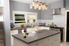 Grey Kitchen - Beautiful 1913 Craftsman House. Huge Kitchen, Next At Home, Craftsman, Meet, Interior Design, House, Beauty, Beautiful, Home Decor
